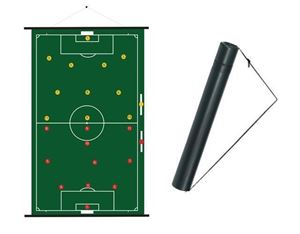 oprolbaar Voetbal Coachbord 52 x 74 cm met koker