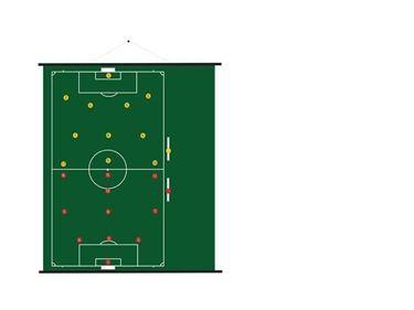 Sportec Oprolbaar Magnetisch Coachbord Voetbal 94 X 105 cm
