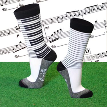 Hingly Piano Crew Sock