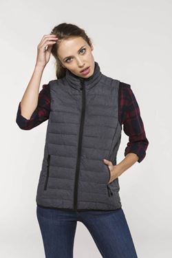 K6114 - Ladies' lightweight sleeveless down jacket
