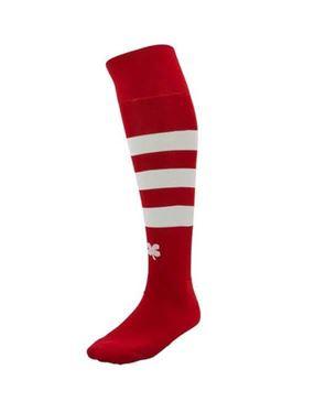 Robey Tweekleurige voetbal sokken rood-wit