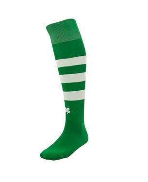 Robey Ring Socks Groen - Wit Gestreept