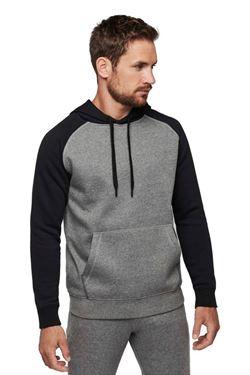 Tweekleurige Sweater Met Capuchon