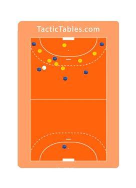 A4 Handbal Coachbord