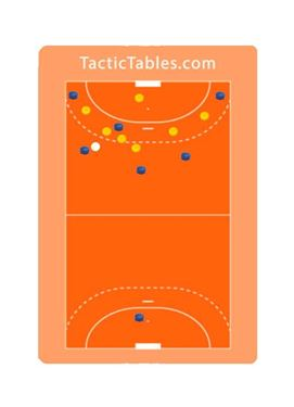 Handzaam Zaalhockey coachbord A4, beschrijfbaar en magnetisch