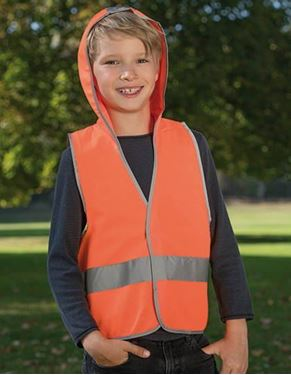 Kids Hooded Safety Vest EN 1150