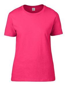 Premium Cotton Ladies Gildan T-shirt Heliconia