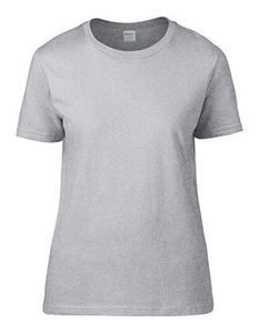 Premium Cotton Ladies Gildan T-shirt Sport grey