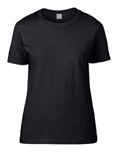Premium Cotton Ladies Gildan T-shirt Black