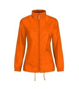 Oranje Dames Windjack B&C Sirocco maat XXL
