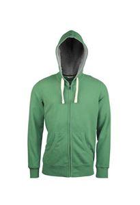 Kariban Vintage Heren Hooded Sweater Vintage Green, maat M
