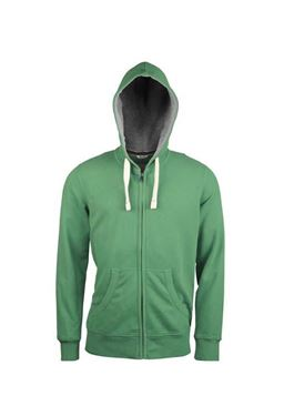 Kariban Vintage Heren Hooded Sweater Vintage Green, maat M