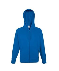 Fruit of the Loom Lightweight Hooded Sweat Jacket Royal Blue maat M