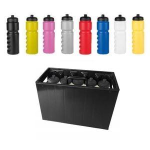 Zwart Bidonkrat Met 10 gekleurde Bidons