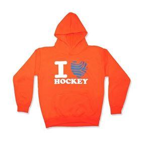 Afbeelding van I Love Hockey Sweater Oranje maat 7/8 (122-128)
