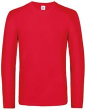 Picture of B&C Exact 190 long sleeve T-shirt Red