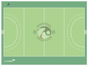 Custom Coachbord Hockey 120 x 90 cm Wolvendaal Hockey Club, België