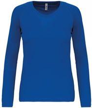 Dames Sport T-Shirt Lange Mouw Proact Sportry Royal Blue