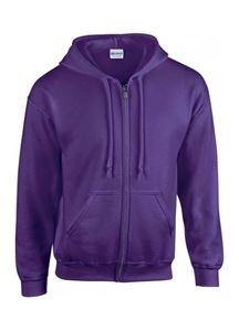 Afbeelding van Gildan Heavy Blend Adult Full Zip Hooded Sweatshirt Purple XL