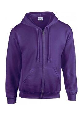 Picture of Gildan Heavy Blend Adult Full Zip Hooded Sweatshirt Purple XL