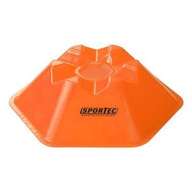 Afbakenbollen Hexagonaal 5 Cm Hoog Set Van 10